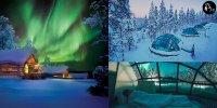 【芬蘭】入住 玻璃冰屋 渡假村 躺在雪地看極光